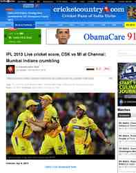 IPL 2013 Live cricket score CSK vs MI: Cricket Country